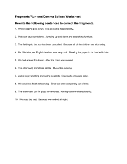 Comma Splice Worksheets Worksheets for all | Download and Share ...