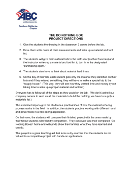 the do nothing box project directions