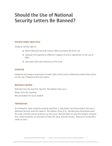 Should the Use of National Security Letters Be