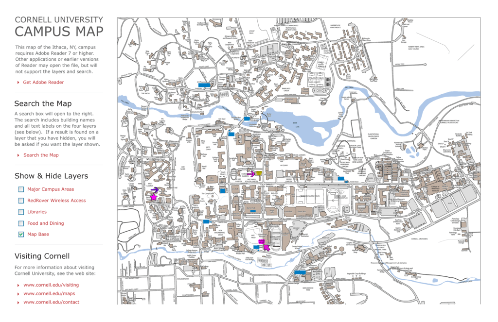 CAMPUS MAP Cornell Mathematics