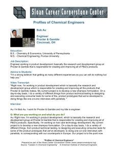 Profiles of Chemical Engineers