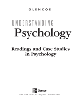 Readings and Case Studies in Psychology