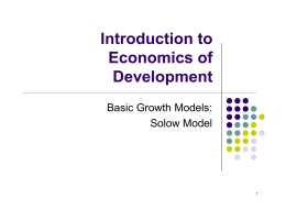 Solow Model - of Paul D. Deng