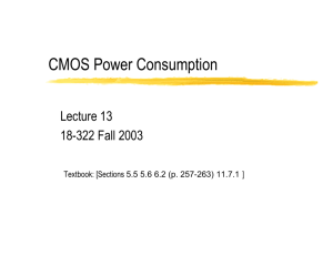 CMOS Power Consumption