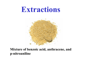 Mixture of benzoic acid, anthracene, and p