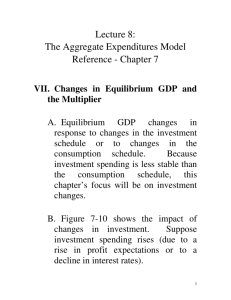 Lecture 8: The Aggregate Expenditures Model Reference