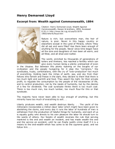 Wealth Against Commonwealth by Henry Demarest Lloyd