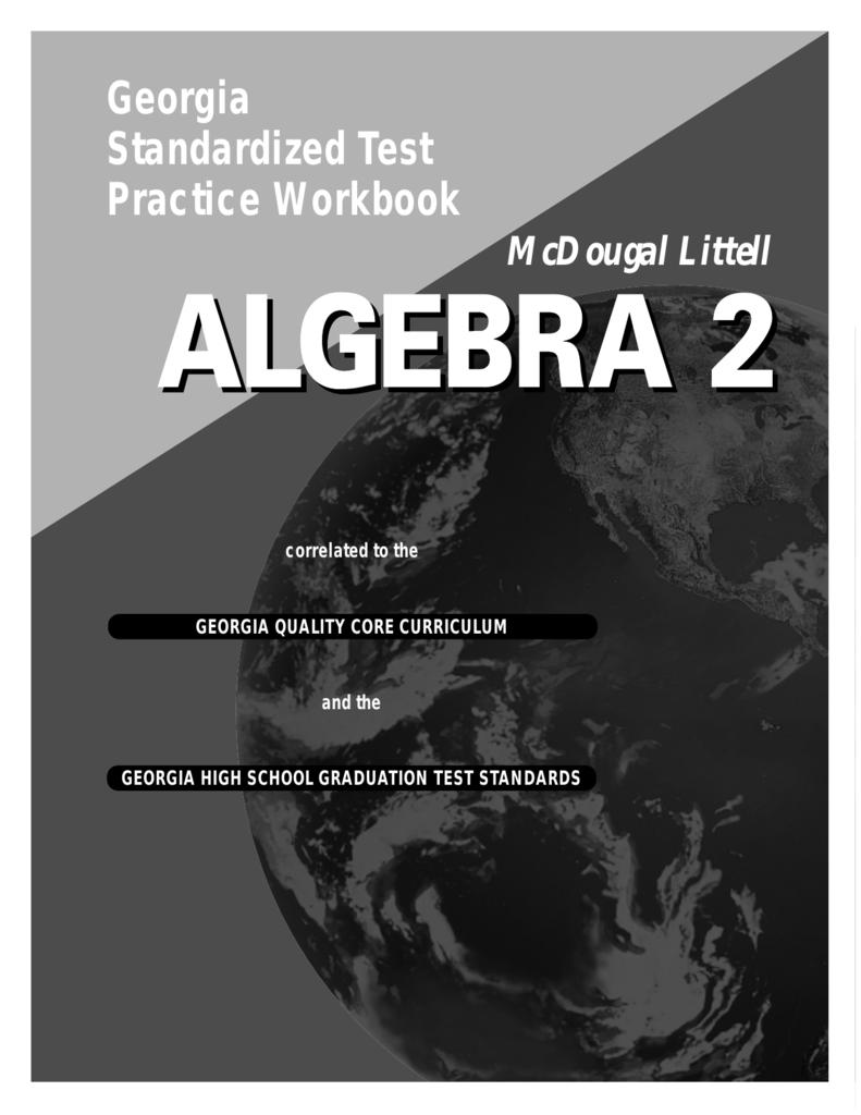 Workbooks algebra 2 mcdougal littell workbook : Georgia Standardized Test Practice Workbook