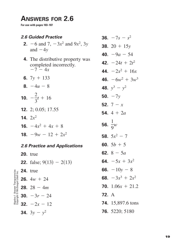 Mat 104 Algebra With Applications Quiz 1