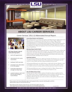 ABOUT LSU CAREER SERVICES