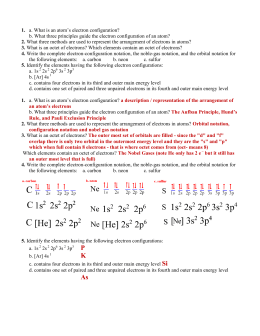 Section 3 Worksheet / Review