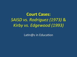 Edgewood Independent School District v. Kirby