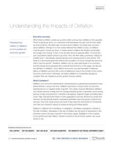 Understanding the Impacts of Deflation