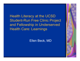 Health Literacy at the UCSD Student