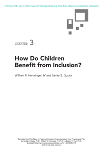 How Do Children Benefit from Inclusion?