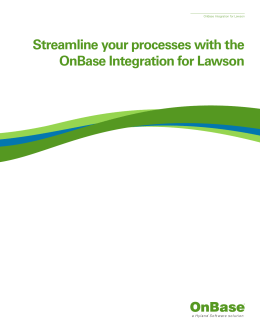 Streamline your processes with the OnBase