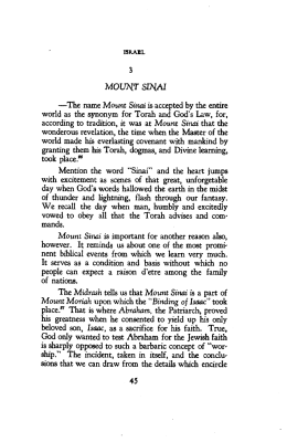 3 MOUNT SINAI —The name Mount Sinai is accepted by the entire