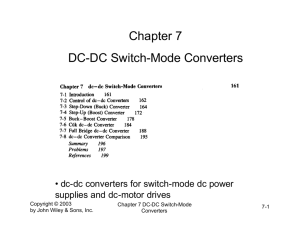 Chapter 7 DC-DC Switch