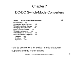 Chapter 7 DC-DC Switch-Mode Converters