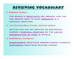 Reviewing Vocabulary