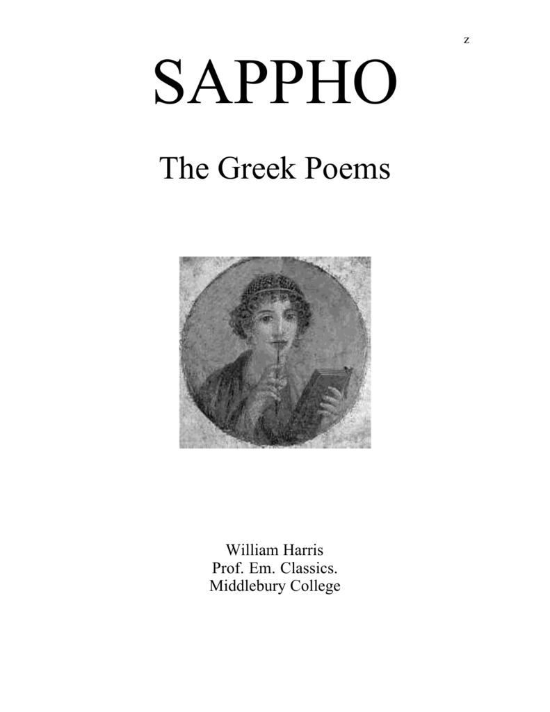 The Greek Poems - Middlebury College: Community Home Page