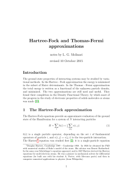 Hartree-Fock and Thomas-Fermi approximations