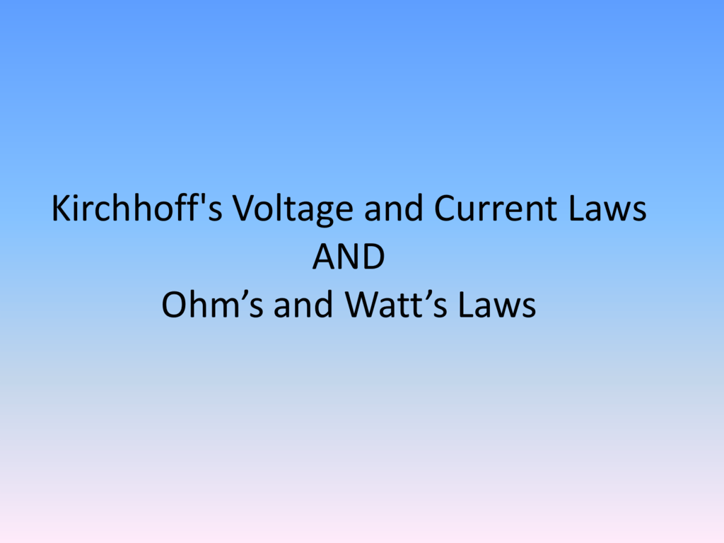 Ohms Law And Watts Vanier Tech Ed Led 9v Circuit Calculation How To Calculate Series Resistor