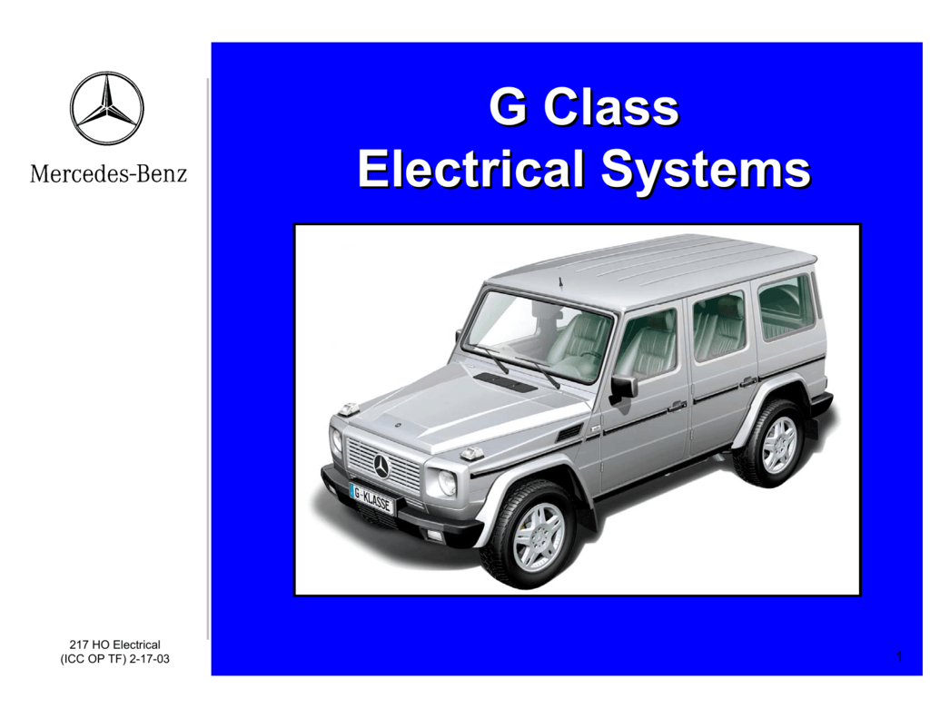 G Class Electrical Systems Mercedes Pre Fuse Box