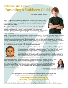 Parenting a Stubborn Child - Chicago Christian Counseling Center
