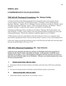 SPRING 2014 COMPREHENSIVE EXAM QUESTIONS THE 602A/B