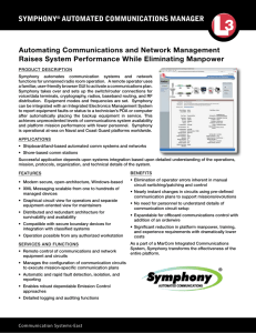 Symphony ® Automated Communications Manager - L
