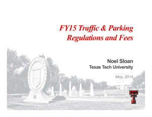 FY15 Traffic & Parking R l ti d F Regulations and Fees