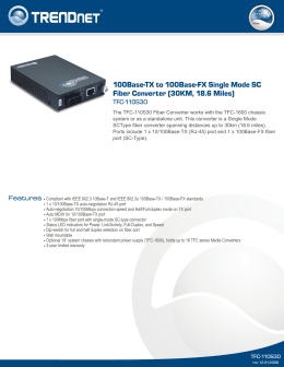 100Base-TX to 100Base-FX Single Mode SC Fiber Converter (30KM