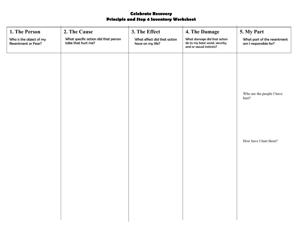 Step 4 Inventory Sheet