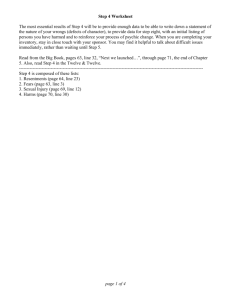 Step 4 Worksheet - Boulder Eye Openers