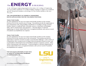 Cain Department of Chemical Engineering at LSU