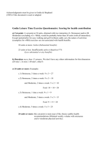 Godin Leisure Time Exercise Questionnaire: Scoring for health