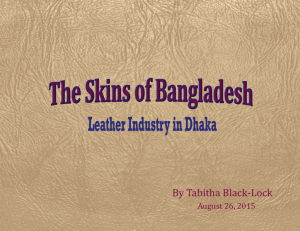 The Skins of Bangladesh- Leather Industry in Dhaka
