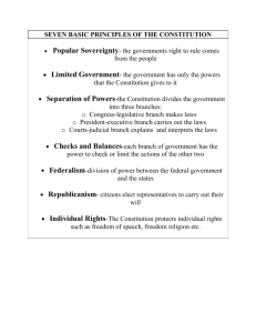 Seven Basic Principles of the Constitution