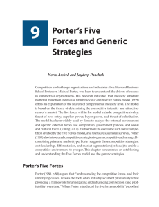 9 Porter's Five Forces and Generic Strategies