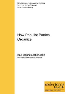 How Populist Parties Organize