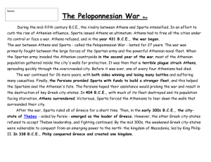 The Peloponnesian War Blue