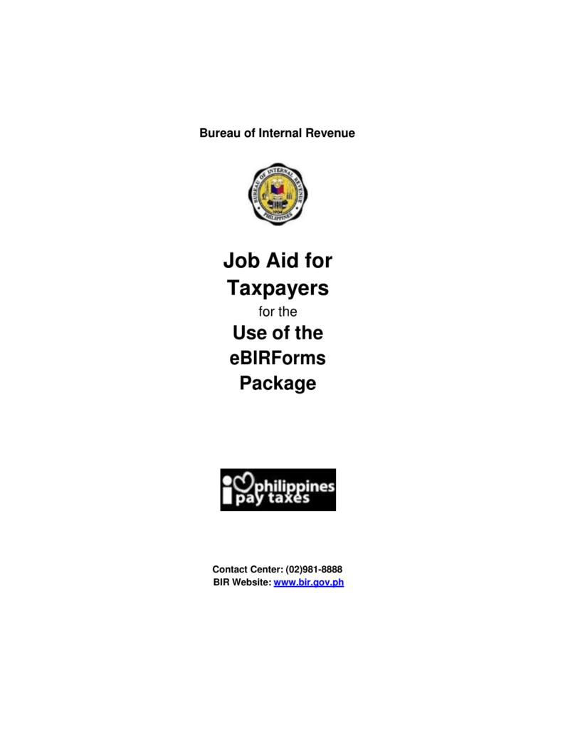 Job Aid for Taxpayers