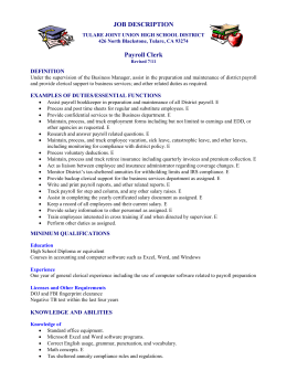 payroll clerk job description. Resume Example. Resume CV Cover Letter