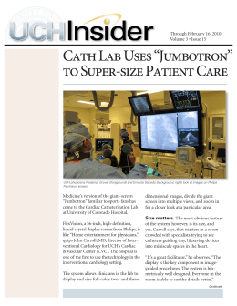 "Cath Lab Uses ""Jumbotron"" to Super"