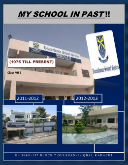 my school in past - The Beaconhouse Times