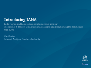 Introducing IANA - Internet Assigned Numbers Authority