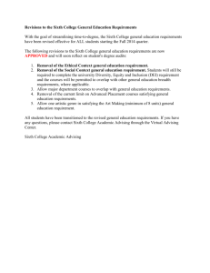 Revisions to the Sixth College General Education Requirements