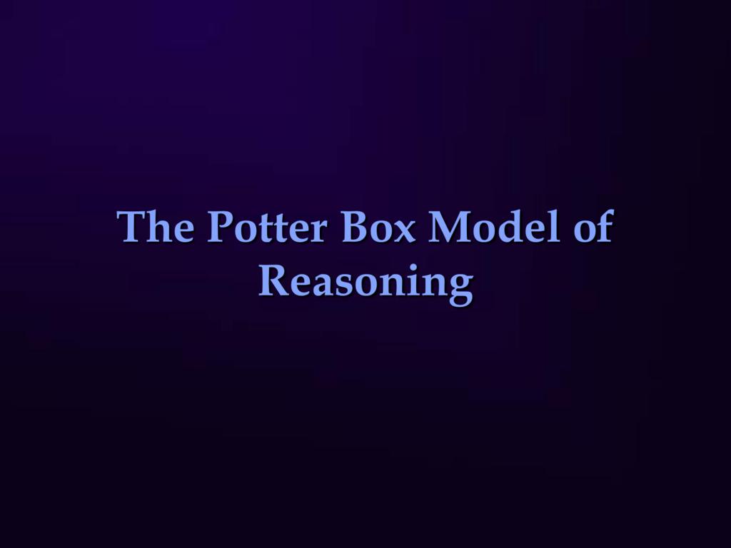 potter box model