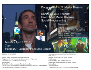 Douglas Rushkoff: Media Theorist Don't Sell Your Friends: How